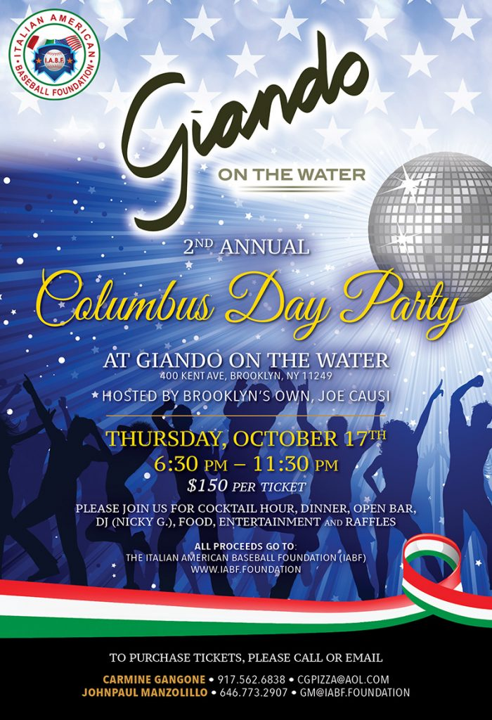 Columbus Day Party Giando on the Water