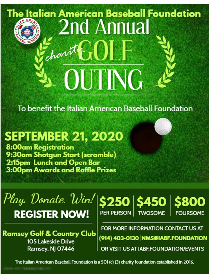 IABF Sept 21, 2020 Golf Outing Flyer