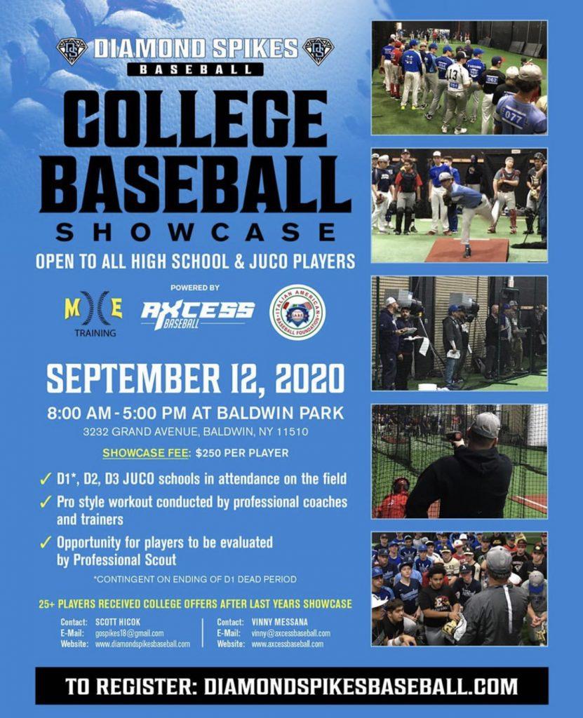 college baseball showcase